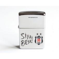 Beşiktaş Zippo Siyah Beyaz Çakmak